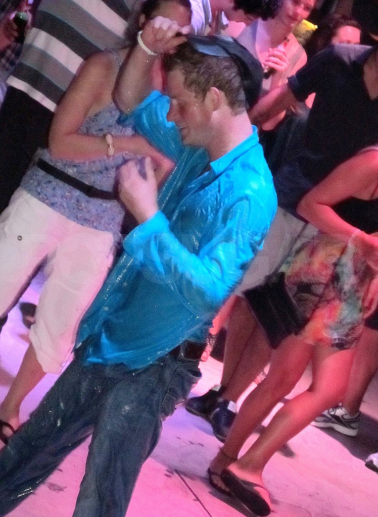 Prince Harry Falls Fully Clothed Into a Pool During a Wild Night Out in Croatia!