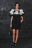 Hawt couture! Alexa rocked a ruffled monochrome Chanel number at the collection showing in July.