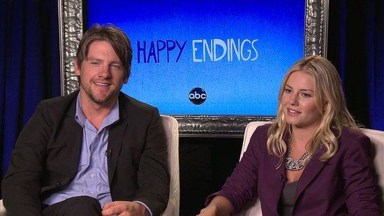 "Happy Endings Stars Zachary Knighton and Elisha Cuthbert Say They're ""Probably Going to Make Out This Year"""
