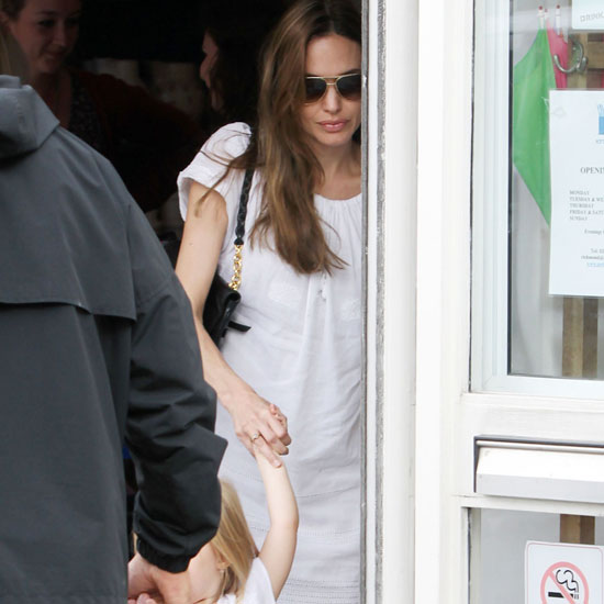 Angelina Jolie and Vivienne Jolie-Pitt held hands.