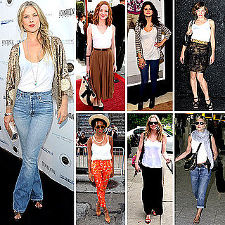 Celebrities Wearing White Tank Tops