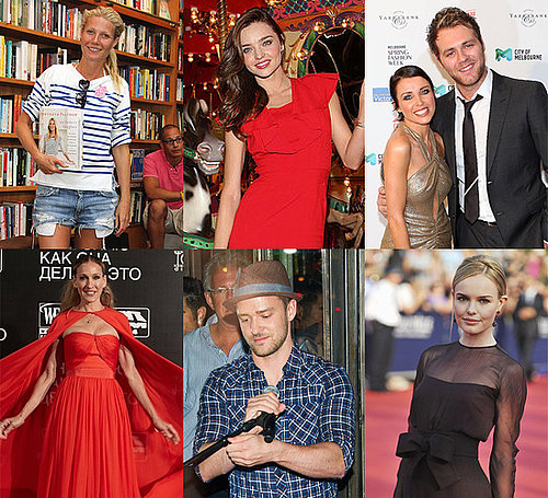 Celebrity Pictures of Gwyneth Paltrow, Miranda Kerr, Justin Timberlake, Kate Bosworth, Emma Stone