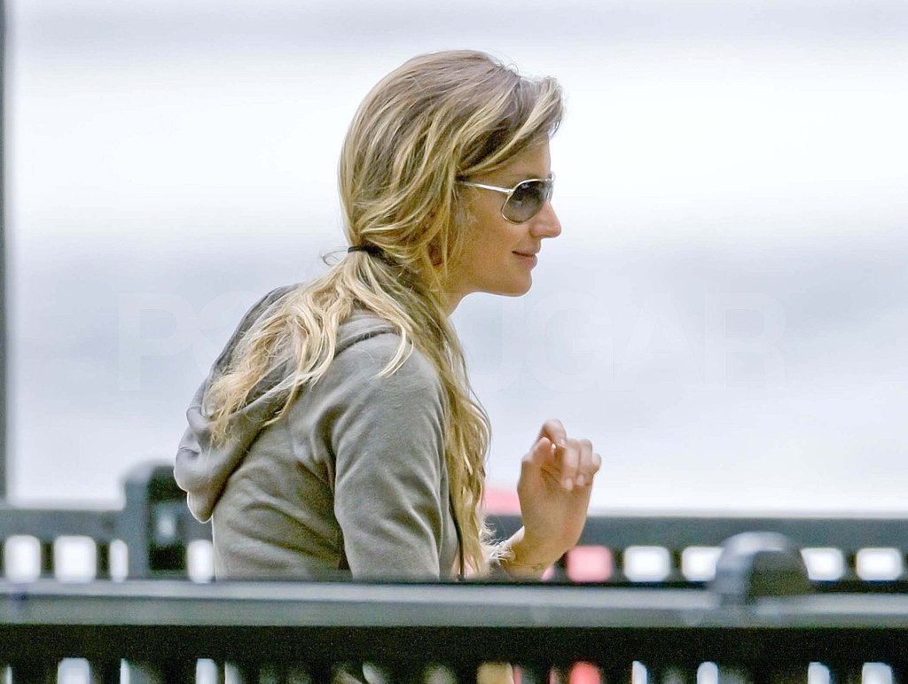 Gisele Bundchen at a park in Boston.