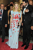 Madonna made a grand entrance in a butterfly gown.