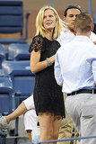 Brooklyn Decker wore a black mini to the US Open tournament.