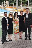 Oscar Isaac, Madonna, Andrea Riseborough, Abbie Cornish and James D'Arcy in Venice.