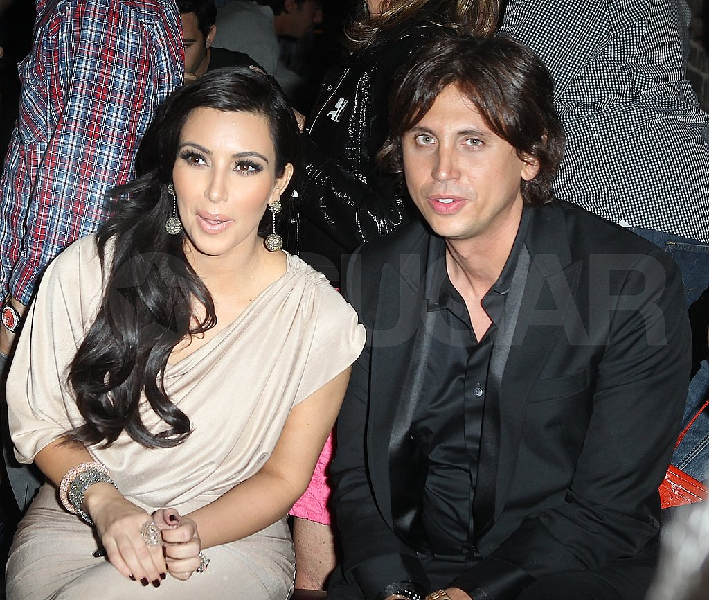 Kim Kardashian and Jonathan Cheban hang out at Justin Timberlake's surprise show at Southern Hospitality.