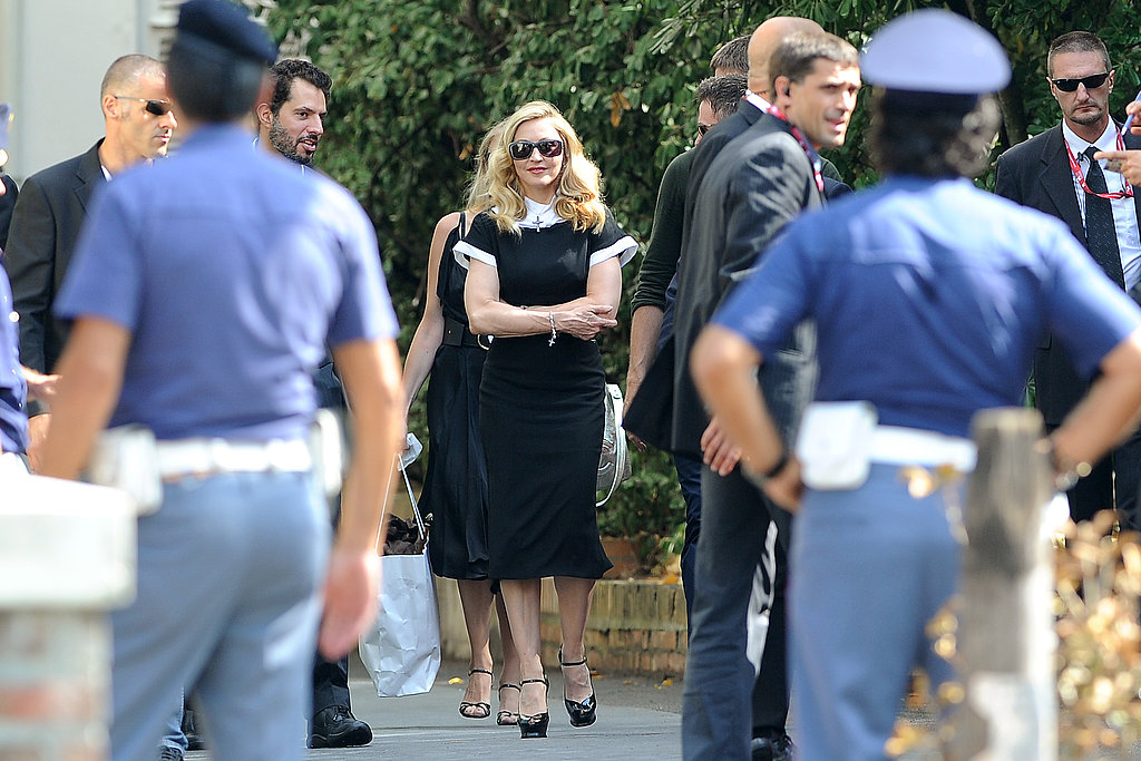 Madonna at a press event in Venice.