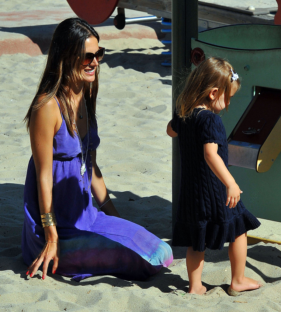 Alessandra Ambrosio and Anja at a park.