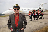 Hugh Hefner arrives at Stanstead Airport to mark the launch of the new Playboy Club in London this past June. The club is back in the city after 30 years.