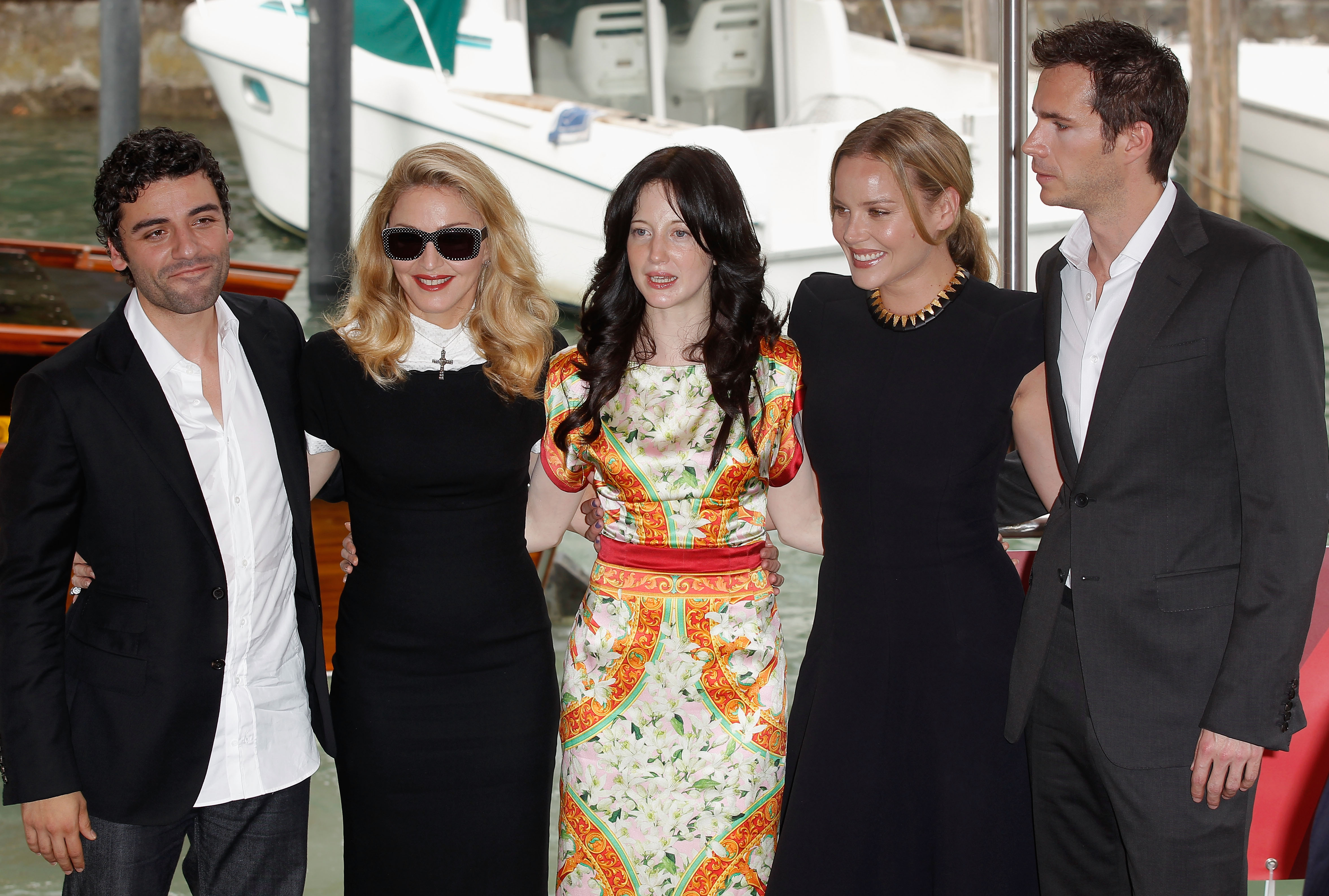 Madonna and her W.E. cast arrived at the Venice Film Festival.