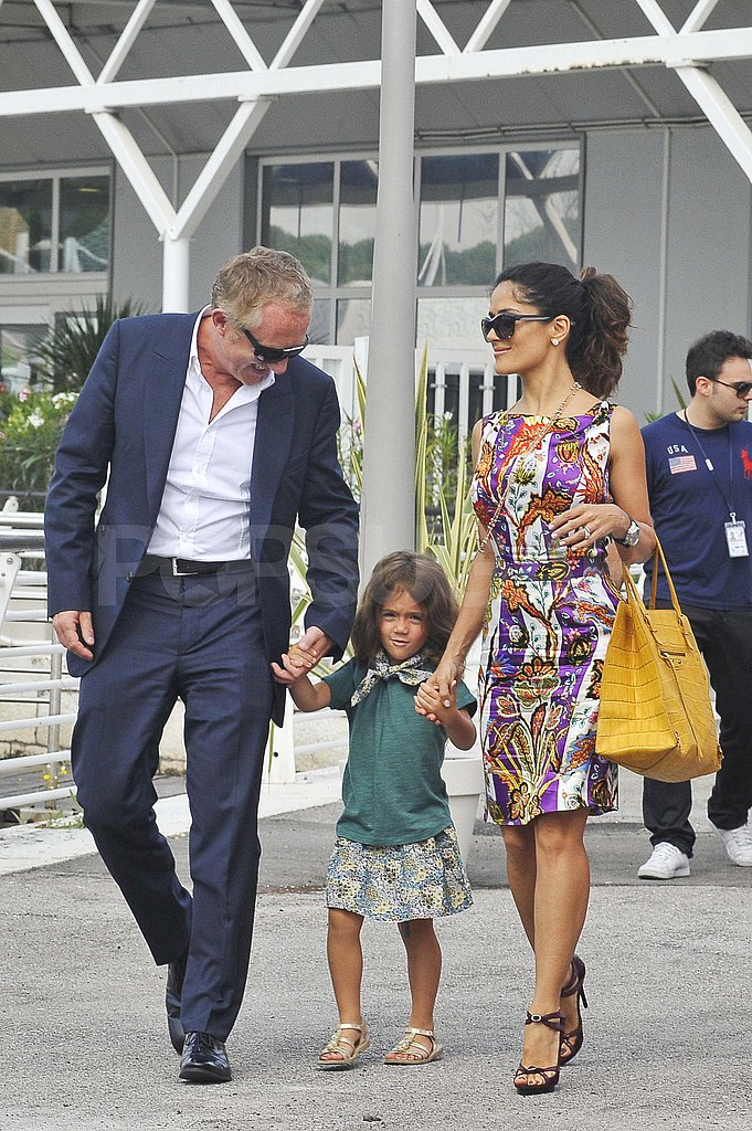 Salma Hayek and Francois-Henri Pinault in Venice with Valentina.
