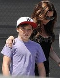 Victoria Beckham with Brooklyn at Maxfield.