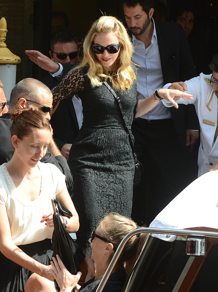 Madonna in Venice after her W.E. premiere.