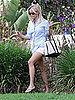Reese Witherspoon Pictures Running Errands in a Blue Top