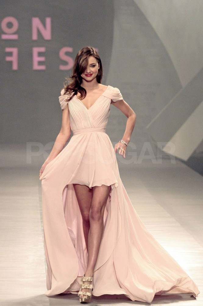 Miranda Kerr on the runway at Liverpool Fashion Fest.