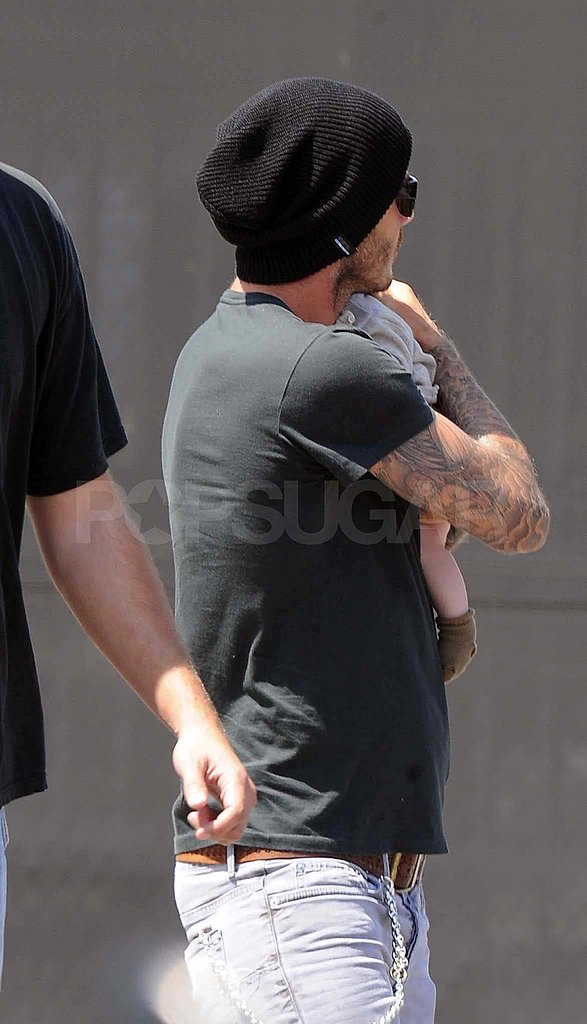 David Beckham with Harper.