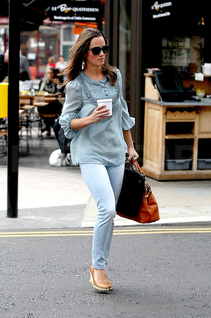 Pippa Middleton out in London.