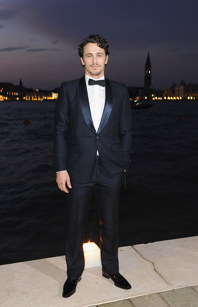 James Franco posed for photos by the water.