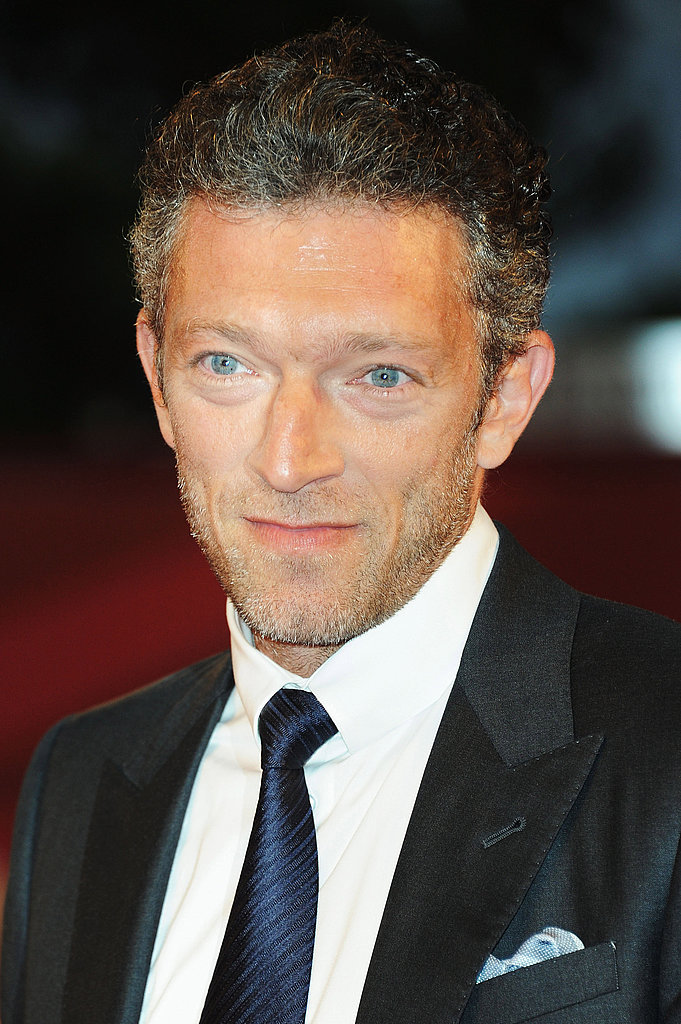 Vincent Cassel smiles in Venice.