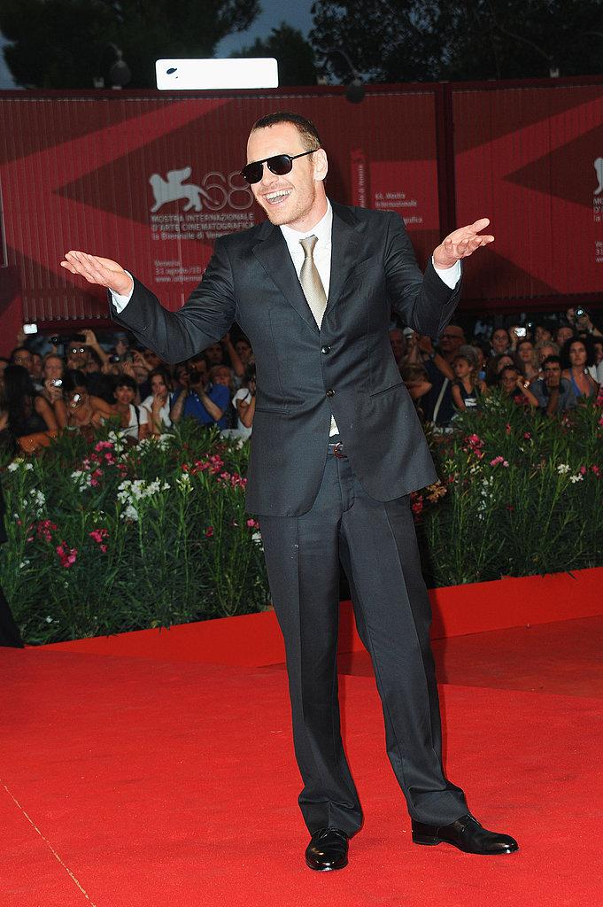 Michael Fassbender in Venice.