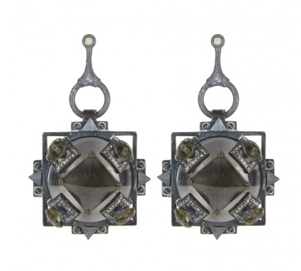 Deco-inspired earrings lend a vintage '20s vibe to a sultry look. All Saints Chareau earrings ($95)
