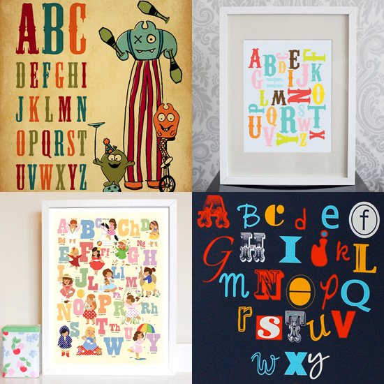 Now I Know My ABC's: 10 Sweet Alphabet Prints