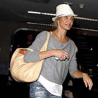 Cameron Diaz Pictures Touching Down at JFK