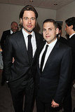 Moneyball costars Brad Pitt and Jonah Hill met up for a photo.