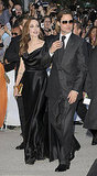 Brad Pitt and Angelina Jolie were matching in shades of black for the TIFF premiere.
