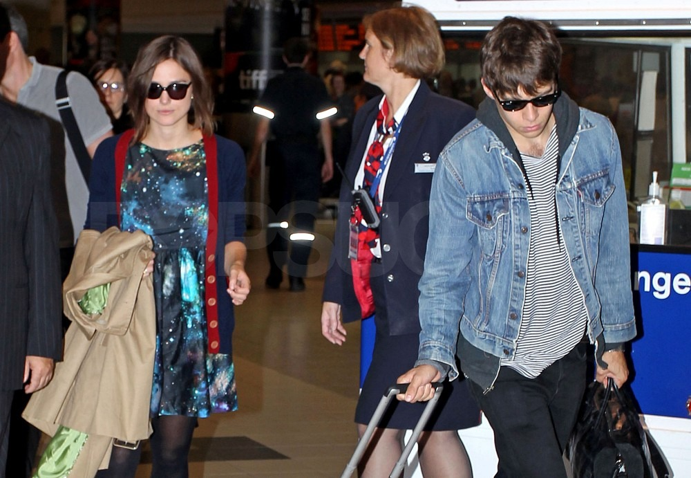 Keira Knightley and boyfriend James Righton in Toronto.