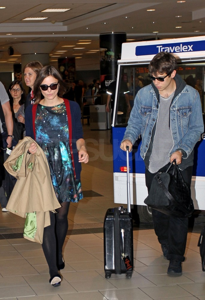 Keira Knightley with boyfriend James Righton.