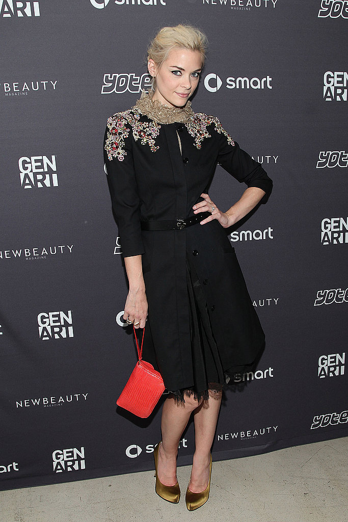 Jaime King went ladylike for Gen Art's presentation.
