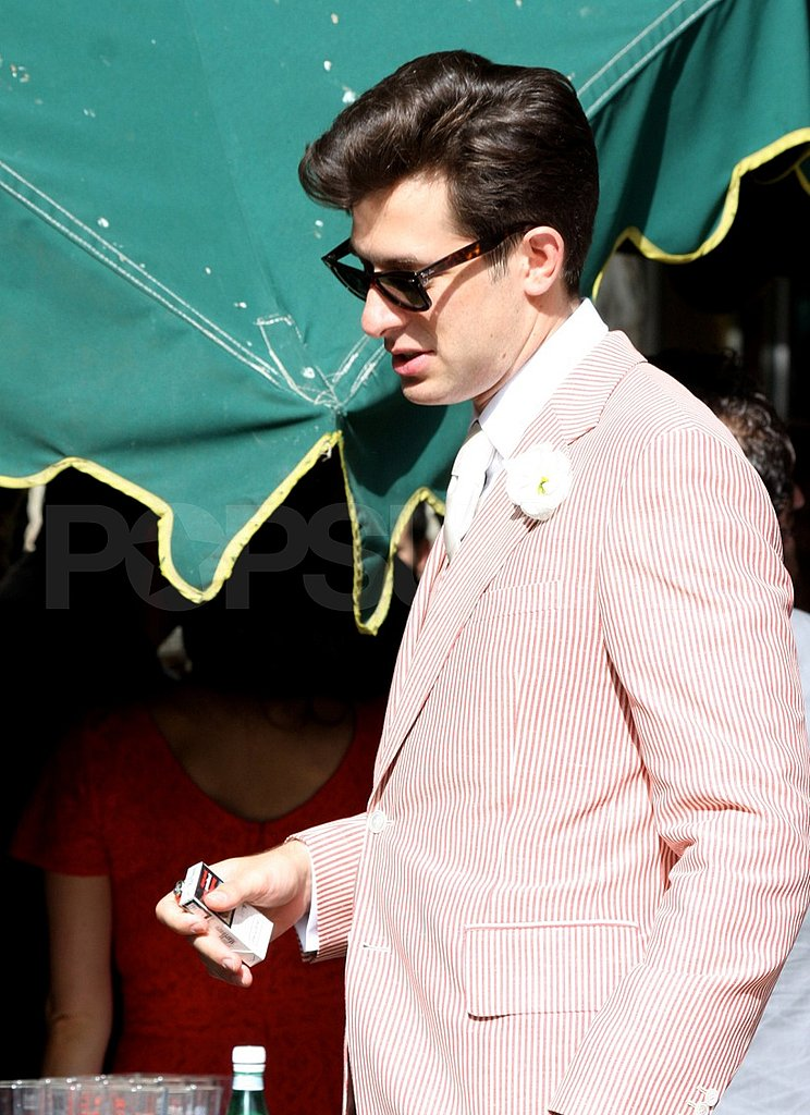 Mark Ronson in his wedding suit.