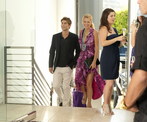 Chace Crawford as Nate Archibald and Blake Lively as Serena van der Woodsen on Gossip Girl. Photo courtesy of The CW