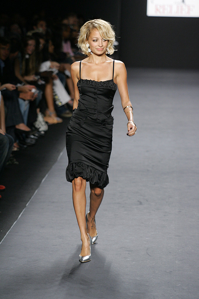 Nicole Richie strutted her stuff during the Fashion For Relief charity runway event at Bryant Park in February 2006.