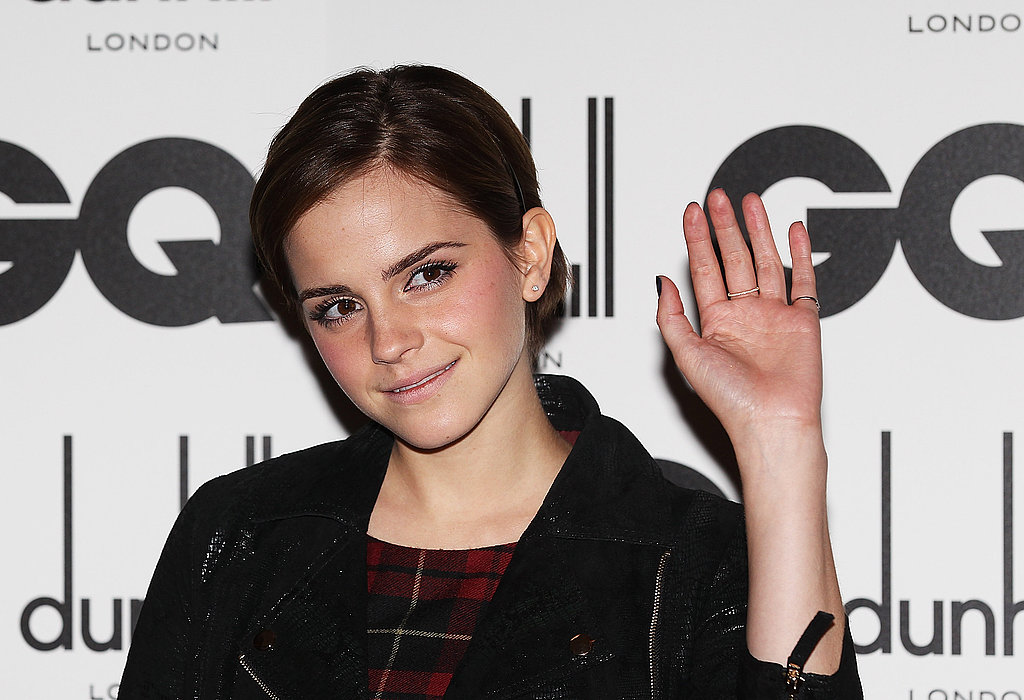 Emma Watson at the GQ Men of the Year Awards in London.