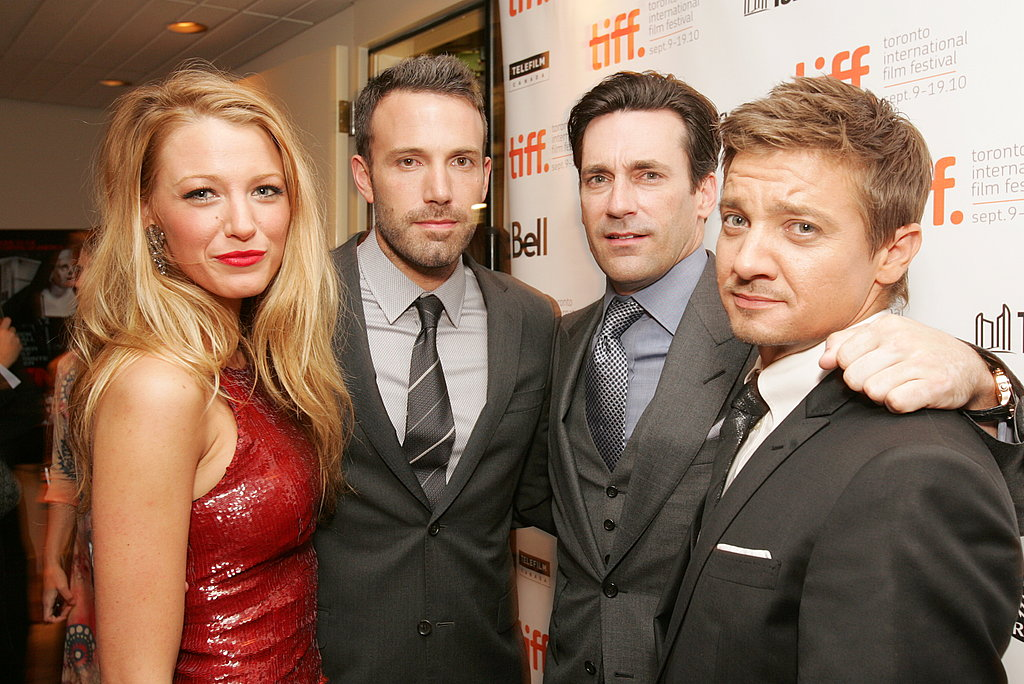 Ben Affleck was in good company at the 2010 premiere of The Town. Blake Lively, Jon Hamm, and Jeremy Renner all made the trip to Toronto to support their movie.