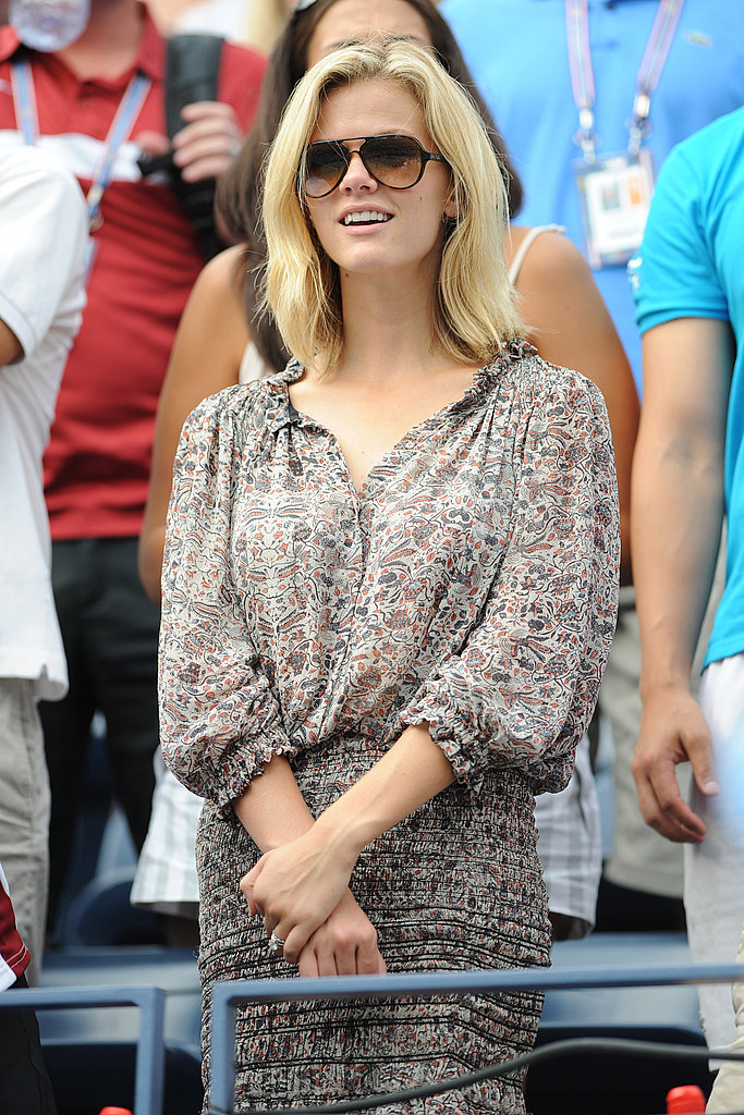 Brooklyn Decker at the US Open Saturday.