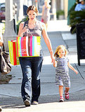 Pregnant Jennifer Garner and Seraphina Affleck shop at Giggle in LA.