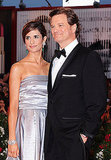 Colin Firth with wife Livia in Venice.