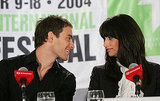Stuart Townsend and Penélope Cruz shared a cute moment during the 2004 press conference for the film festival entry Head in the Clouds.