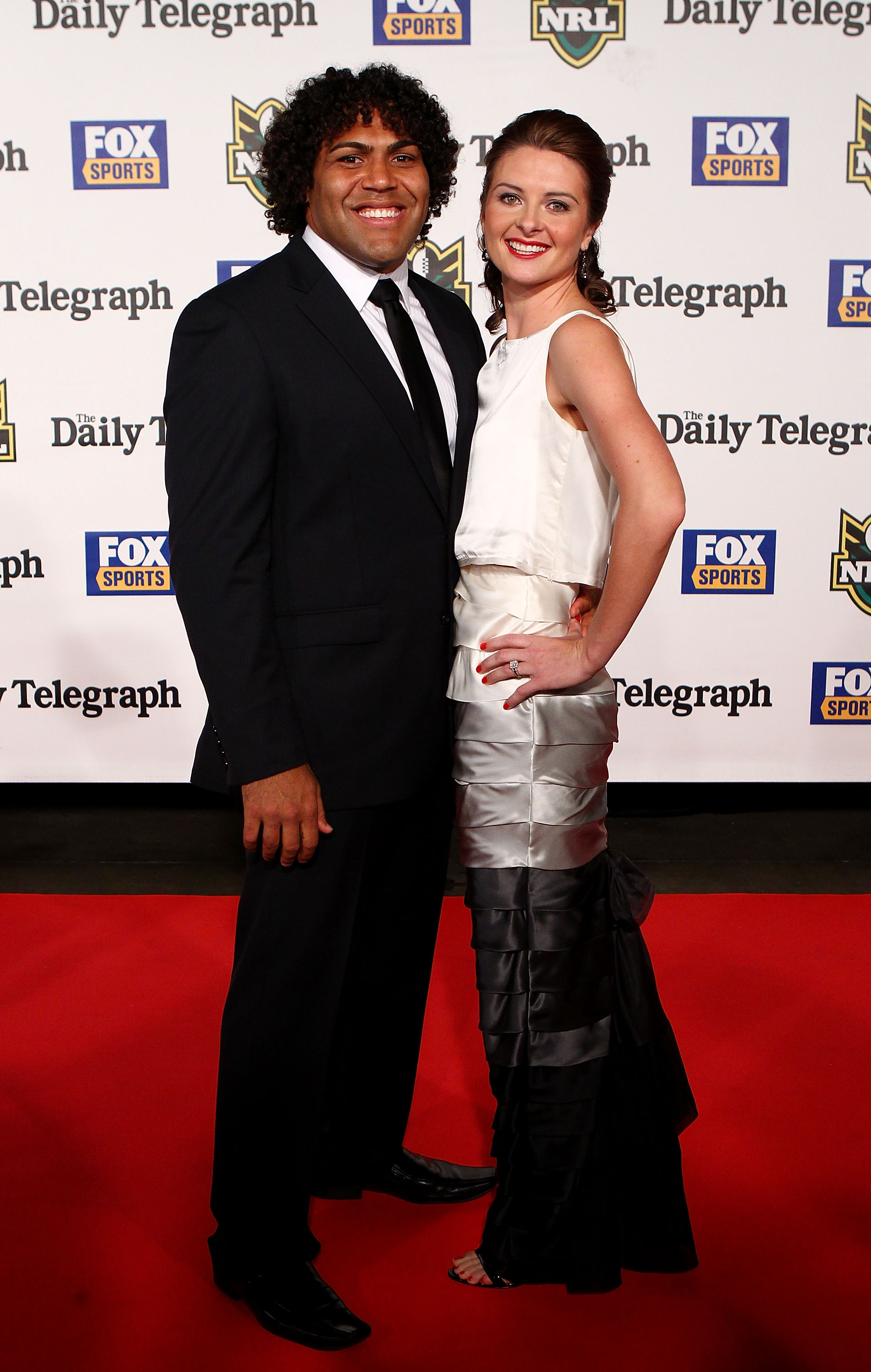 Sam Thaiday and Rachel Evans