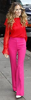 Sarah Jessica Parker in Colorblock Prabal Gurung