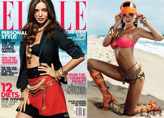 Miranda Kerr and Adriana Lima Wear Their Bikinis For a Special Elle