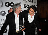 Johnny Depp and Keith Richards at the GQ party.