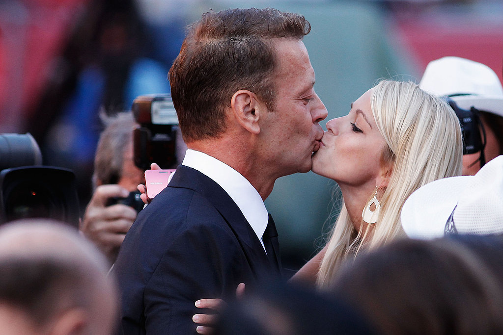 Rocco Siffredi is at it again as he kisses a woman at the Tinker, Tailor, Soldier, Spy premiere.