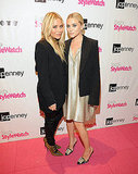 Mary-Kate Olsen and Ashley Olsen kicked off Fashion's Night Out at the JCPenney event.
