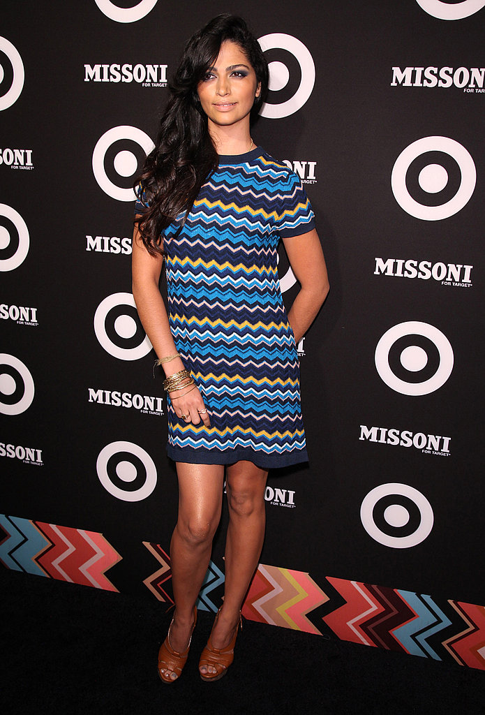 Camila Alves went short and blue.