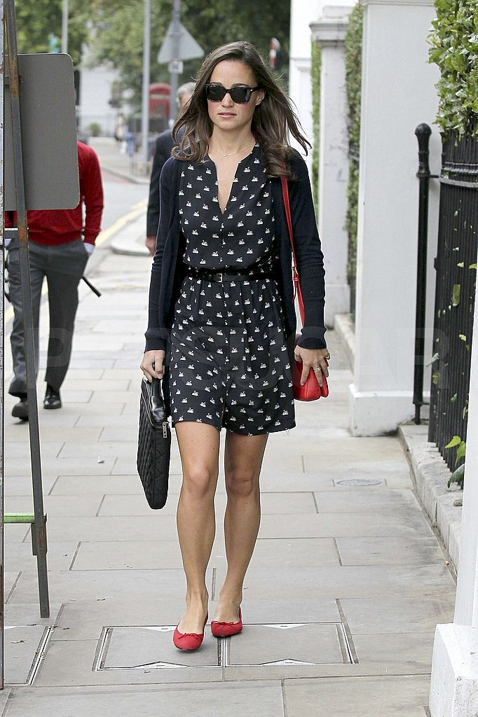 Pippa Middleton Heads Off to Work as Kate's Reps Deny Pregnancy